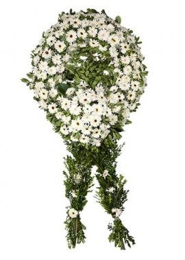 Beyaz Gerbera Cenaze Çelengi