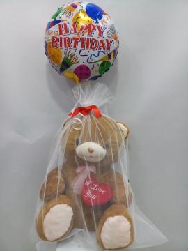 Uçan Balonlu Ayıcık Doğum Günü Hediye
