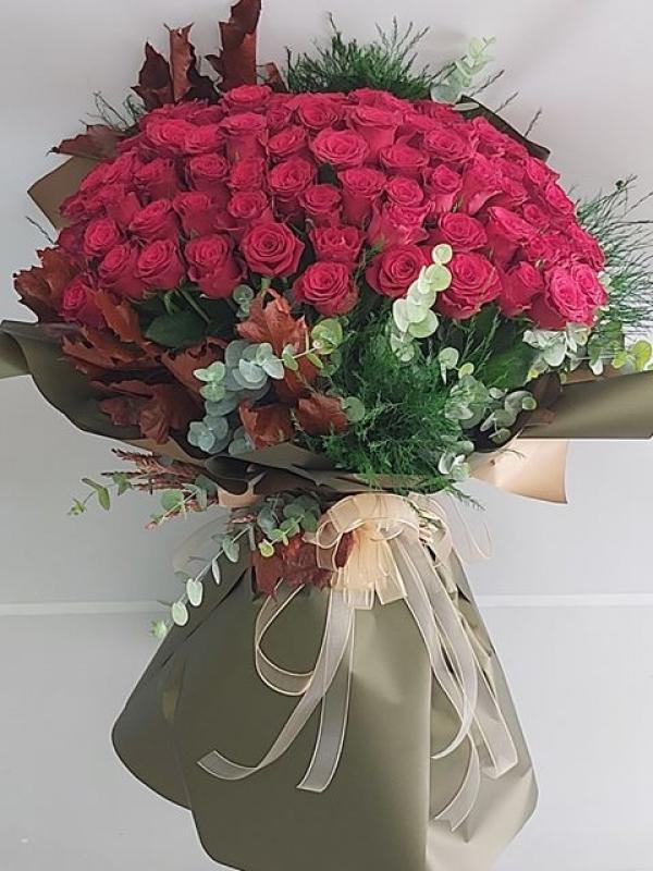 101 Gül Kız İsteme Çiçeği Buket