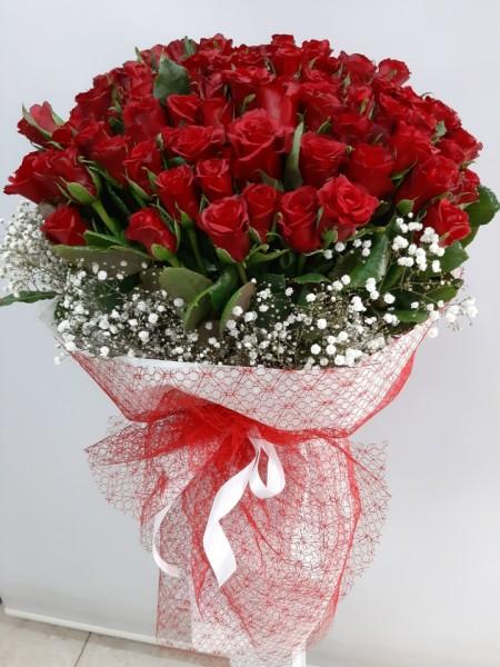 41 Kırmızı Gül Buketi İzmir Çiçekse