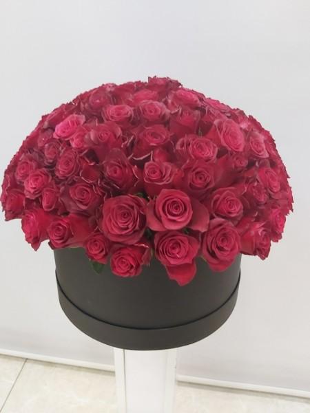 Kutuda 101 Rodos Kırmızı Güller İzmir