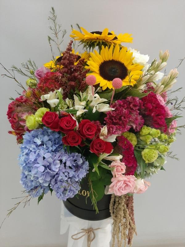 Kutuda Çiçek Aranjmanı