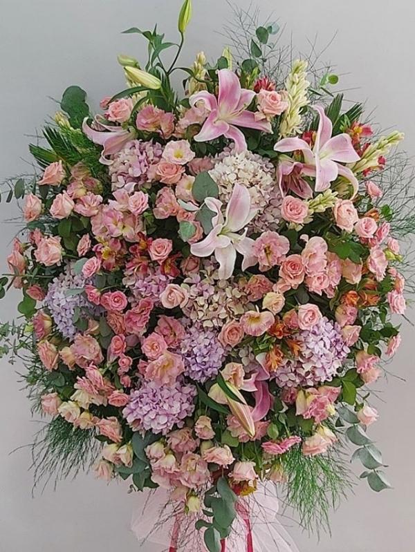 Pembe Ferforje Düğün Açılış Çiçek