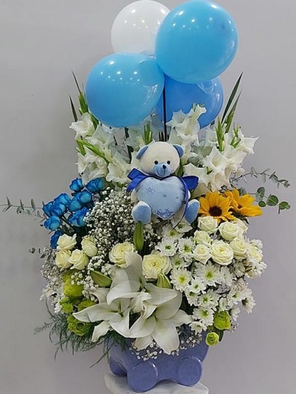 Hoşgeldin Erkek Bebek Çiçeği