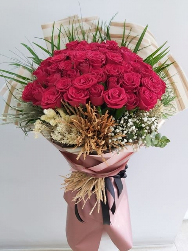 51 Gül İsteme Nişan Söz Çiçeği Buketi