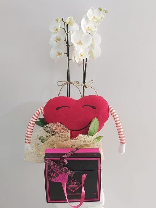 Orkide Çikolata Kalp