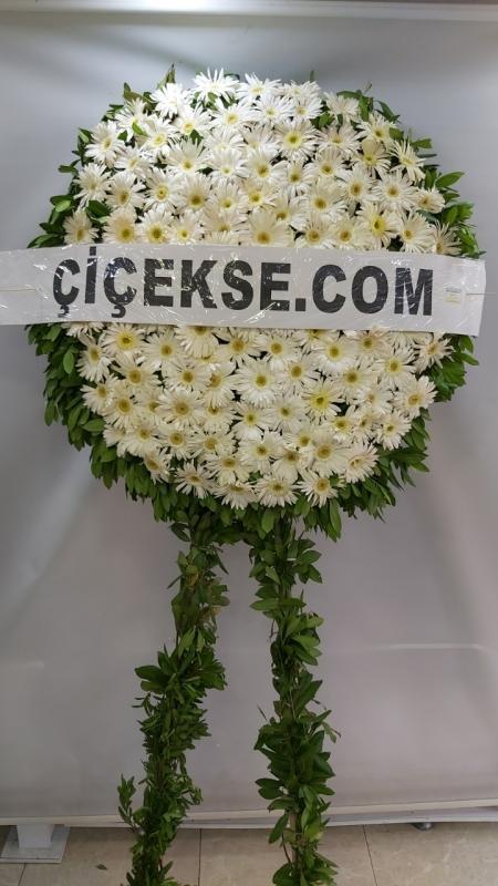 Beyaz Çiçekli Cenaze Çelengi