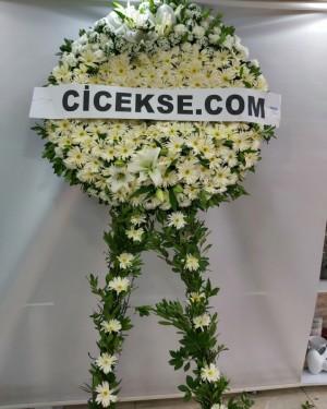 İzmir Çiçekçi Beyaz Cenaze Çelenkleri