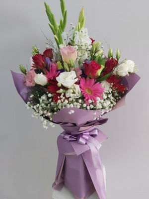 Lila Çiçek Buketi