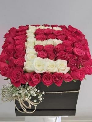 Kutuda Harfli 70 Gül İsteme Çiçeği