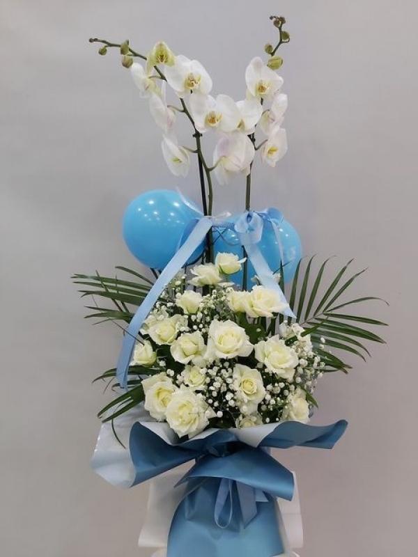 Yeni Doğan Erkek Bebek Çiçeği